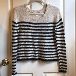 BP Black And Beige Striped Sweater